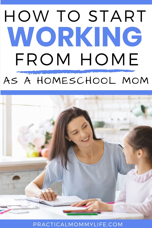 work from home homeschool mom