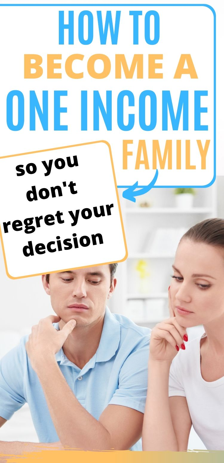 becoming a one income family